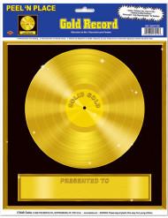 Goldene Schallplatte - Wanddeko
