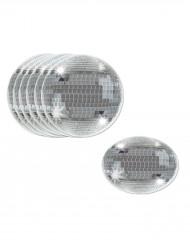 Silberne Discokugel - Glasuntersetzer