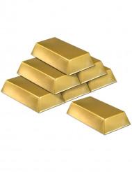 Goldbarren aus Kunststoff zum Dekorieren