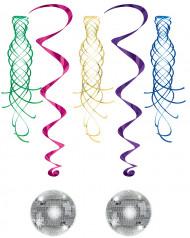 Spiralförmige Discokugel- und Strudel-Hängedeko