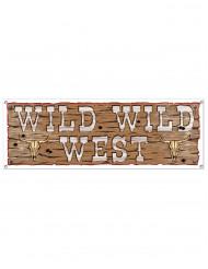 Brauner Wild Wild West-Banner