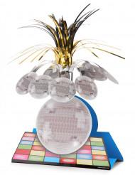 Disco-Tischdeko mit Tanzfläche und Kugel