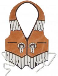 Cowboy Kunststoff-Schürze für Herren