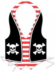 Piraten-Kunststoffschürze für Herren