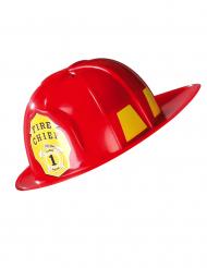 Roter Feuerwehrhelm für Erwachsene