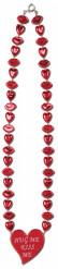 Rote Halskette mit Valentins-Herzen