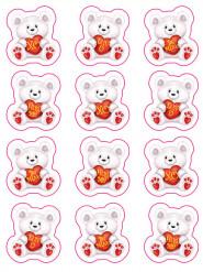 Herzbären Sticker - Valentinstag