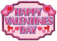 Rosa Happy Valentine's Day-Banner
