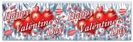 Grau glitzernde Happy Valentines Day Girlande