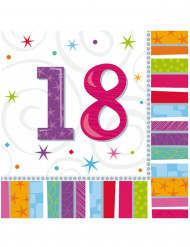 16 Papierservietten für 18-Jährige