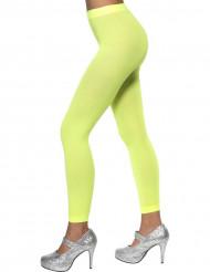 Neongrüne Leggings für Damen