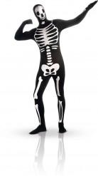 Hautenger phosphoreszierender Skelett-Anzug