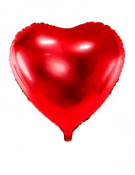 Alu-Luftballon rotes Herz 45 cm