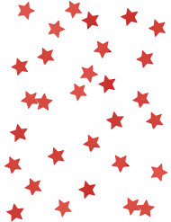 Rote Sternenkonfetti in Metallikoptik