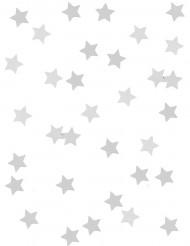 Silberene Sternenkonfetti in Metallikoptik