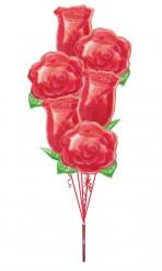 Alu-Luftballon Strauß - Rosen
