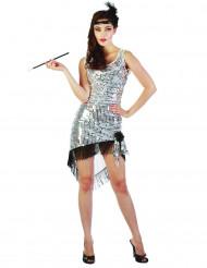 Aufreizendes Charleston-Kostüm für Damen mit Pailletten