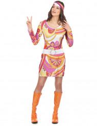 Fetziges Hippie-Kostüm für Damen