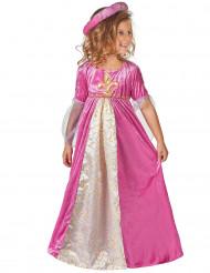 Mittelalterliches Prinzessinnen-Kostüm für Mädchen