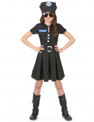 Polizei™-Kostüm mit Kappe für Mädchen