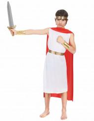Adliger Römer Kinderkostüm für Jungen weiss-rot-goldfarben