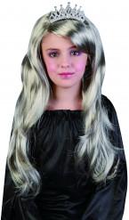 Prinzessinnen-Perücke silber für Mädchen