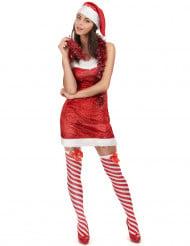 Weihnachts-Damenkostüm rot-weiss