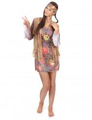 Buntes Hippie-Kostüm für Damen