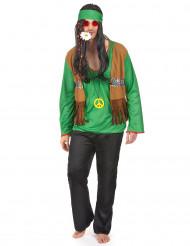 Grünes Hippie-Kostüm für Herren