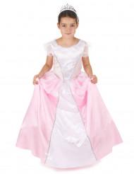 Prinzessinnen-Kostüm mit Reifrock für Mädchen weiss-rosa