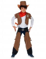Western Cowboy-Kostüm für Jungen braun-weiss