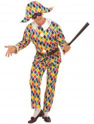 Kariertes Harlekin-Kostüm für Herren