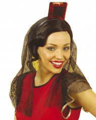 Spanischer Kopfschmuck mit Schleier für Damen