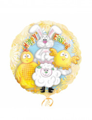 Aluluftballon Frohe Ostern mit Tiermotiven