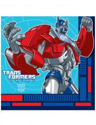16 Papierservietten der Transformers™ 33 x 33 cm