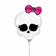 Alu-Luftballon Monster High™ Totenkopf