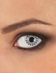 Originelle Kontaktlinsen schwarz-weißes Spinnennetz