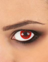 Originelle Kontaktlinsen schwarz-rotes Spinnennetz