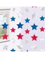 6 Dekohänger USA Sterne