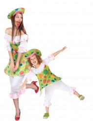 Clown-Paarkostüm für Mutter und Tochter