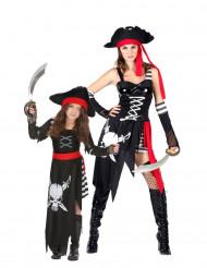 Piraten Kapitäns-Paarkostüm für Mutter und Tochter