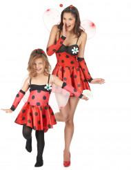 Marienkäfer-Paarkostüm für Mutter und Tochter