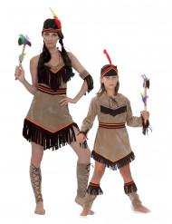 Indianerinnen-Paarkostüm für Mutter und Tochter