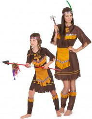 Indianerinnen-Paarkostüm Mutter-Tochter