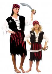 Piratinnen-Paarkostüm für Mutter-Tochter