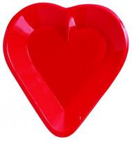Plastikschale - rotes Herz
