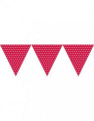 Rote Girlande mit Polka Dots