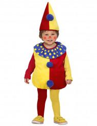 Rot-gelbes Clowns-Kostüm für Kinder