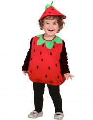 Erdbeer-Kostüm für Kleinkinder Obst rot-grün