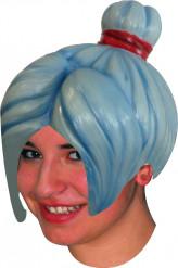 Blaue Manga Latex-Perücke für Erwachsene